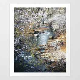 A Creek on a Snowy Day in Boulder, Colorado II Art Print