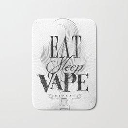 Poster eat sleep vape Bath Mat