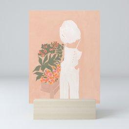 Flower Shoppe Girl Mini Art Print