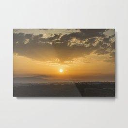 Sunset in Tuscany Metal Print