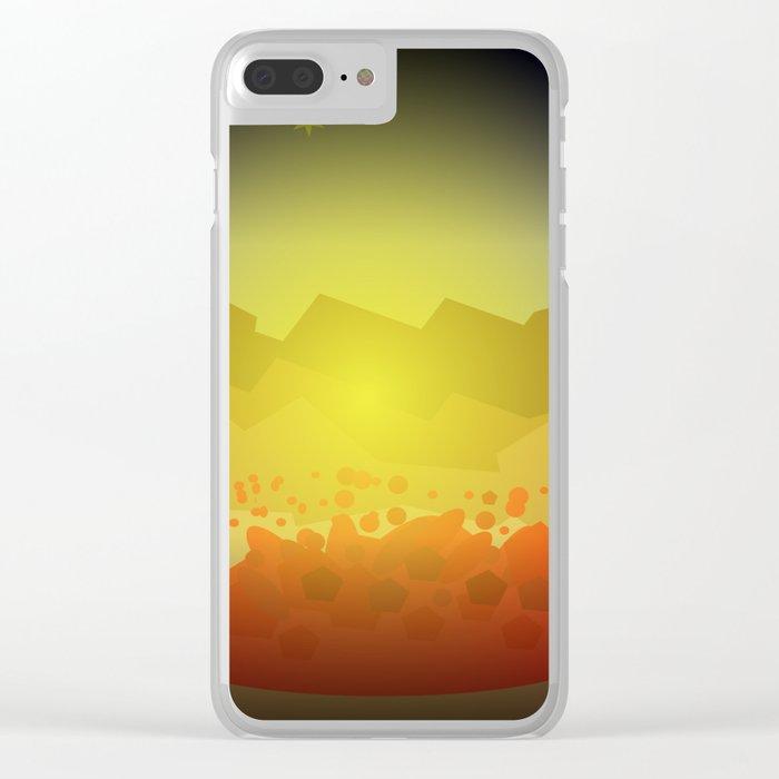 Icelandic volcano Clear iPhone Case