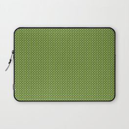 Knitted spring colors - Pantone Greenery Laptop Sleeve