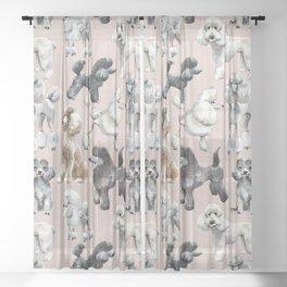 Poodles Sheer Curtain