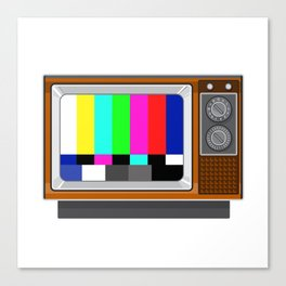 Retro Television Set TV Test Card Signal Pattern Canvas Print