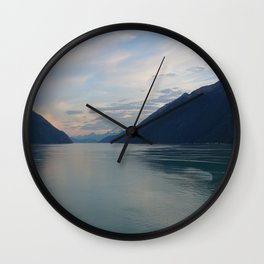 Placid Sunset Lake Wall Clock