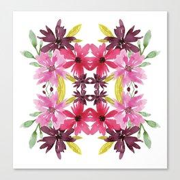 Mirrored Flower Cluster Canvas Print