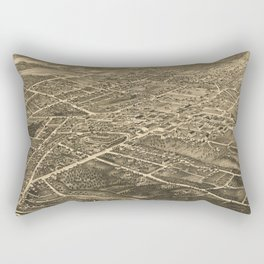 Vintage Pictorial Map of Asheville NC (1891) Rectangular Pillow
