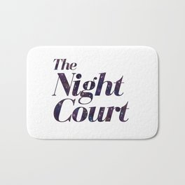 The Night Court Galaxy Design White Bath Mat
