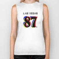 las vegas Biker Tanks featuring Las Vegas by Joe Alexander
