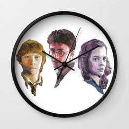 Ron, Harry & Hermione Wall Clock
