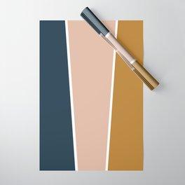 Retro Autumn Color Block Wrapping Paper
