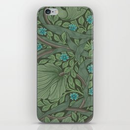 William Morris Art Nouveau Forget Me Not Floral iPhone Skin