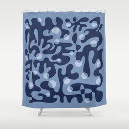 Floating Lanterns (Indigo) Shower Curtain