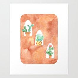 Cactus home Art Print