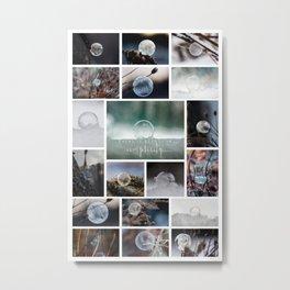 Simplistic Beauty Bubble Collage Metal Print