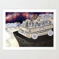 Animals on a Wagon Art Print