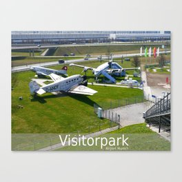 D - Airport Munich : Visitorpark Canvas Print