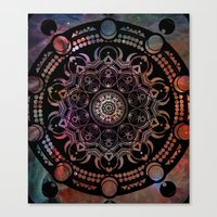 chakra Canvas Prints featuring CHAKRA by Spectronium - Art by Pat McWain