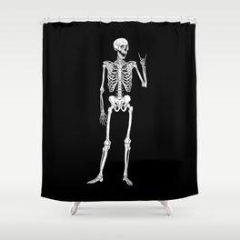 Rock Star Skeleton Shower Curtain
