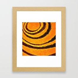 Pop Art Tiger Stripe Animal Print Framed Art Print