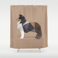 Collie Dog. Shower Curtain