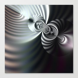 Abstract 3D striped serenity Canvas Print