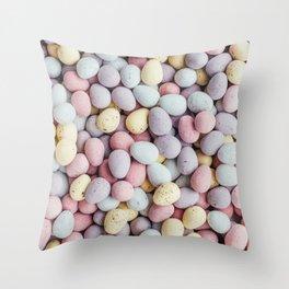 eggs color Throw Pillow