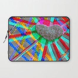 Multi Heart Rays 1 Laptop Sleeve