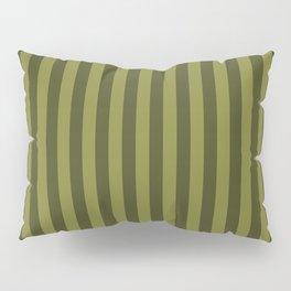 Olive Green Stripes Pattern Pillow Sham