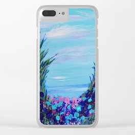 Ocean Abstract, Modern Art, Seascape, Blue abstract Clear iPhone Case