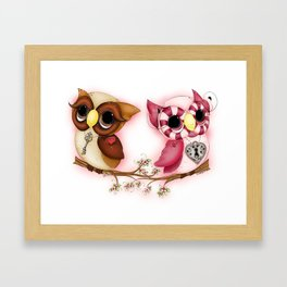 So In Love Hooties - Owl iPhone Case Framed Art Print