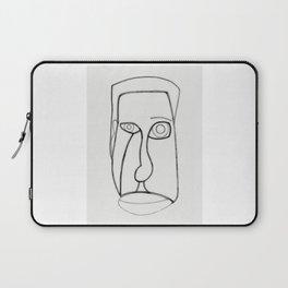 Facial Features grey Laptop Sleeve