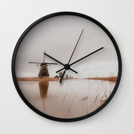Kinderdijk 2 // The Netherlands Wall Clock