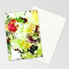 Rose Abstract Stationery Cards