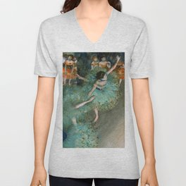 "Edgar Degas ""Danseuse basculant (Danseuse verte - The green dancer)"" Unisex V-Neck"