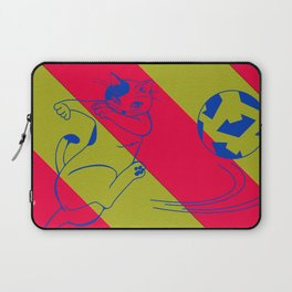 Soccer Cat Laptop Sleeve