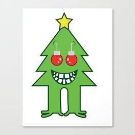 Scary X Mas Tree Canvas Print