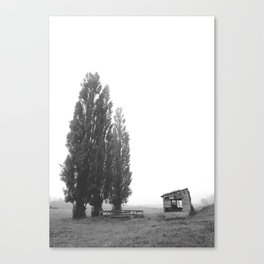 Tree wise men and a barn Canvas Print