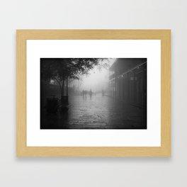 New Orleans on a foggy day Framed Art Print