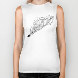 'Snowboarder in Ribbons of Snow II' Biker Tank