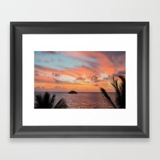 ISLAND SUNRISE Framed Art Print
