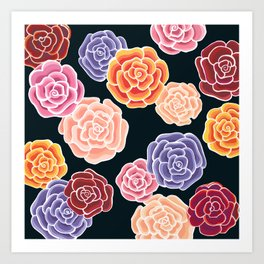 rosy days Art Print