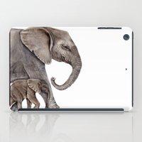 elephants iPad Cases featuring Elephants by Goosi