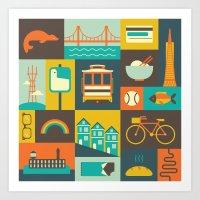 san francisco Art Prints featuring San Francisco by Ariel Wilson