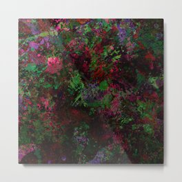 Purple Warfare - Abstract purple, pink, green and black abstract Metal Print