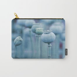 Poppy capsules blue style Carry-All Pouch