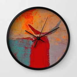 Toro Rojo Wall Clock