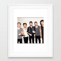 one direction Framed Art Prints featuring One Direction by Max Jones