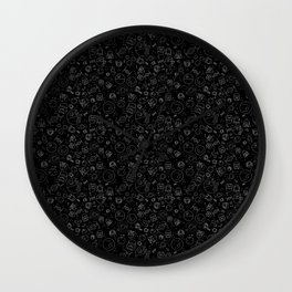 Outta Space black Wall Clock