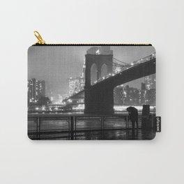 Brooklyn Bridge on a rainy night Carry-All Pouch